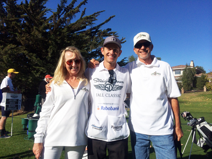 Husband Rich, Marianne & Son Alex - Straight Down Golf Classic 2013