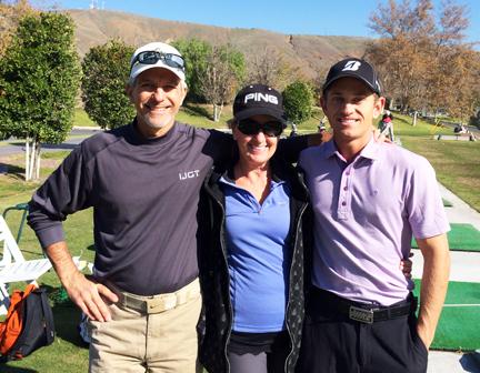 Rich, Marianne & Alex love to golf!